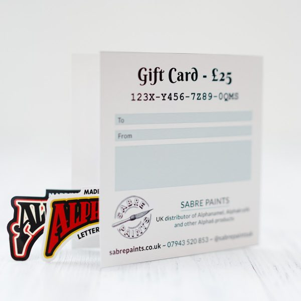 Sabre Paints Gift Card ?25