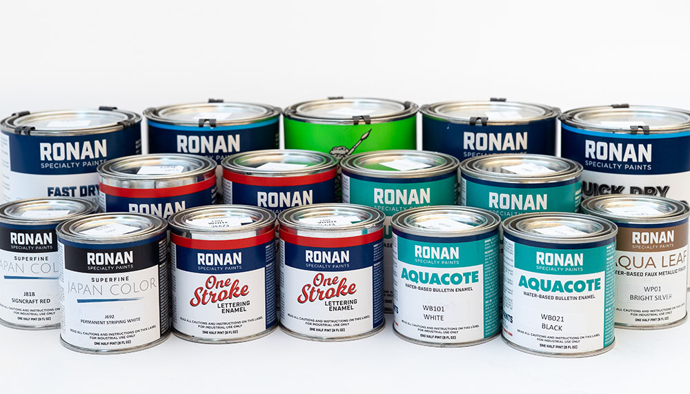 Ronan Paints products available in the UK and Europe