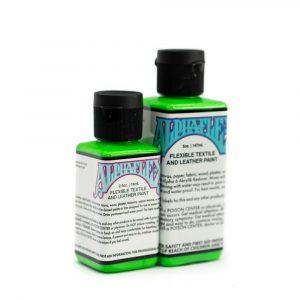 AlphaFlex ELECTROSHOCK GREEN - Flexible textile and leather paint -