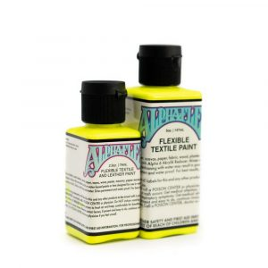 AlphaFlex ELECTROSHOCK YELLOW - Flexible textile and leather paint -
