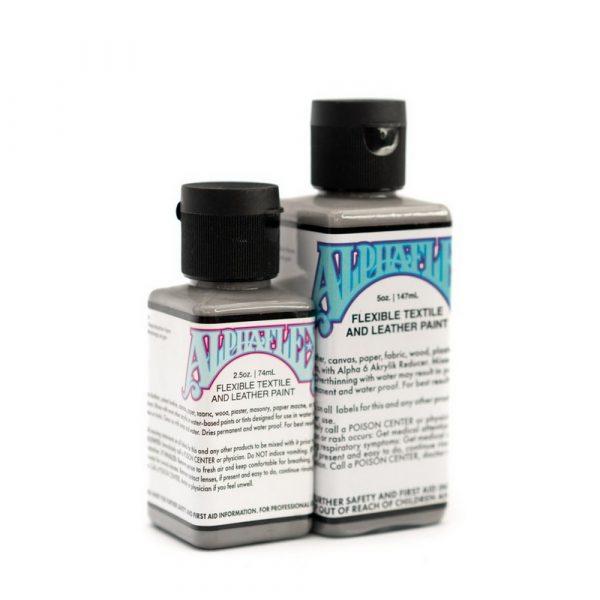 AlphaFlex MEDIUM GREY - Flexible textile and leather paint -