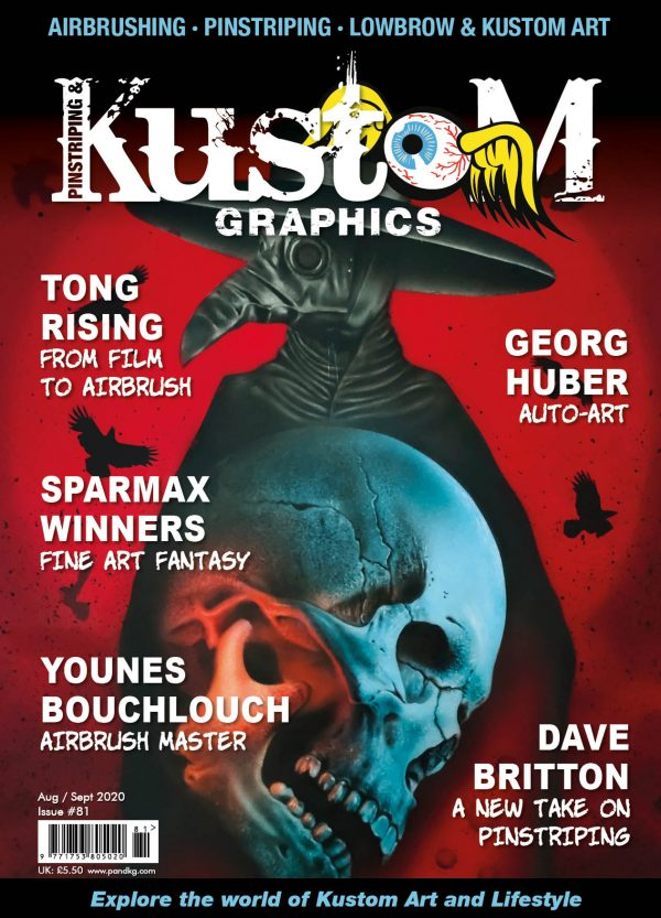 Pinstriping and Kustom Graphics Magazine - Issue-81-COVER