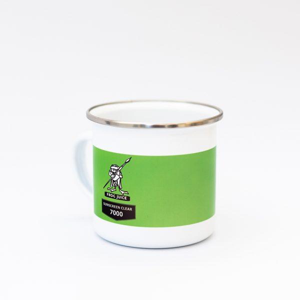 Branded Enamel Mugs - Frog Juice